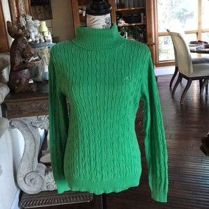 IZOD Green turtle neck sweater